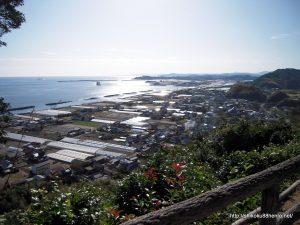 禅師峰寺から太平洋を望む