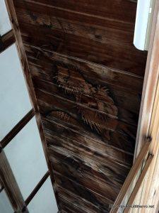 持仏堂の龍の天井絵